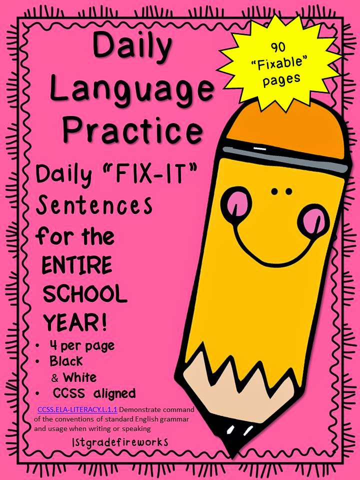 http://www.teacherspayteachers.com/Product/Daily-Language-Practice-FIX-IT-Sentences-1411242