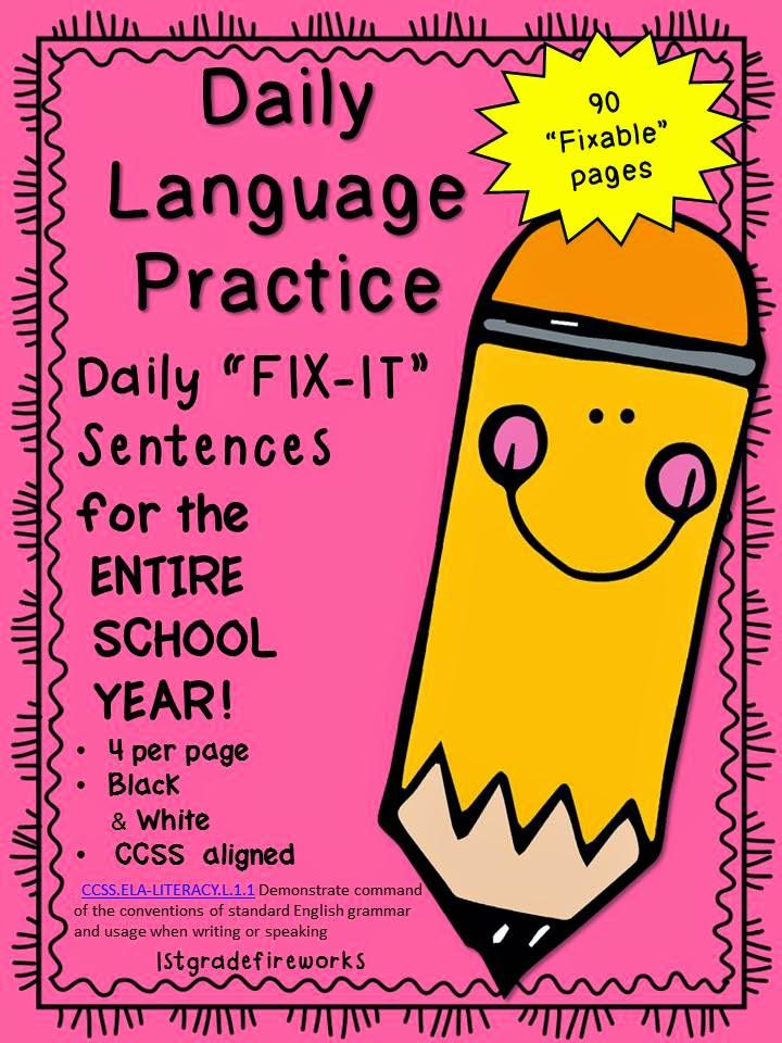 http://www.teacherspayteachers.com/Product/Daily-Language-Practice-FIX-IT-Sentences-1411242