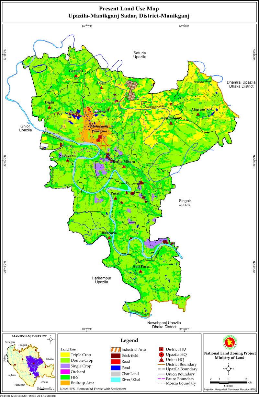 Manikganj Sadar Upazila Mouza Map Manikganj District Bangladesh
