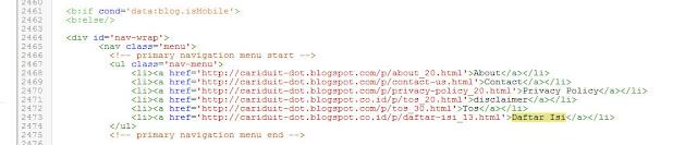 Cara Membuat Daftar Isi [Sitemap] Blog Sesuai Kategori Label