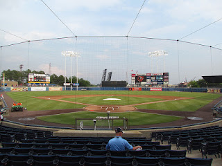 Home to center, Harbor Park