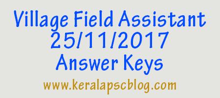 Village Field Assistant Exam 25-11-2017 Answer Keys
