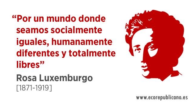 Hoy, se cumplen 98 años del asesinato de Rosa Luxemburgo