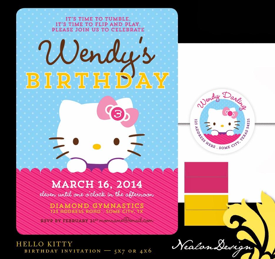 Nealon Design: HELLO KITTY Birthday Invitation