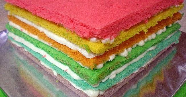 Resep Rainbow Cake Ncc Fatmah Bahalwan: Rainbow Cake Kukus