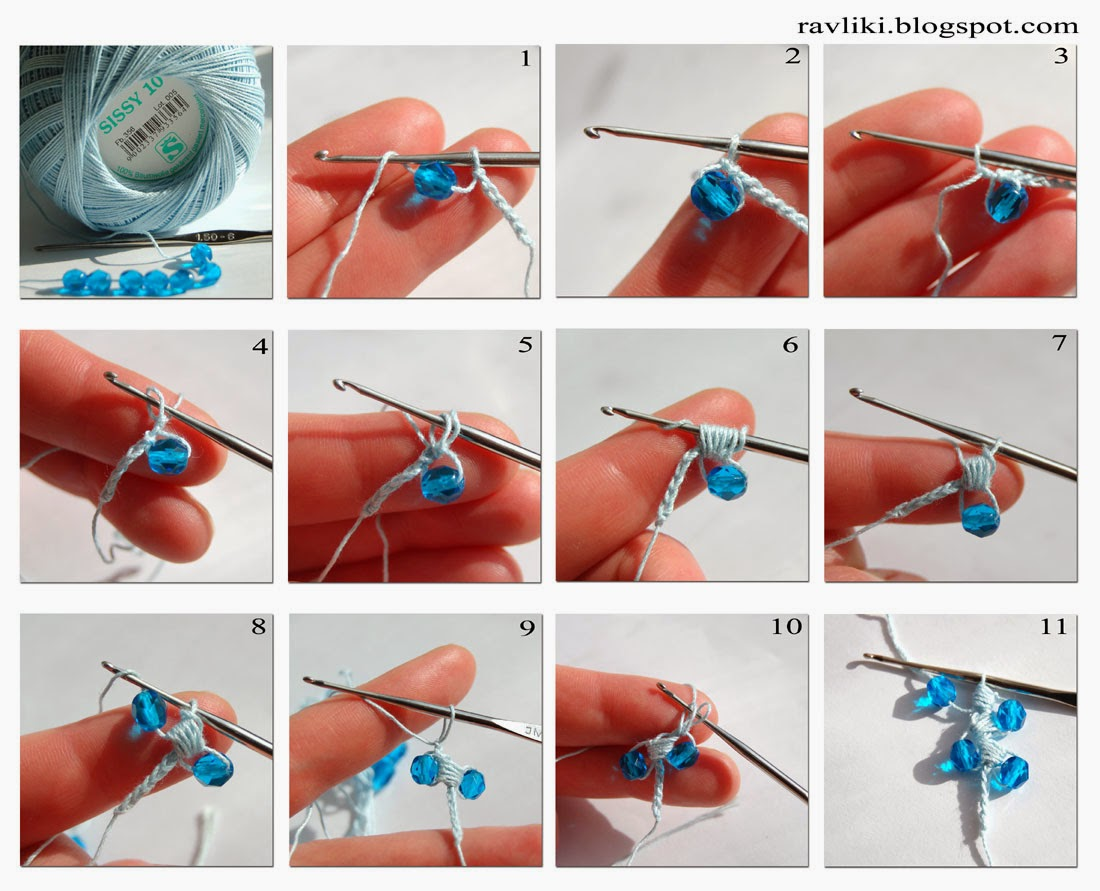 Pulsera de crochet para princesas