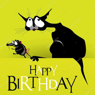 happy birthday cat and mouse