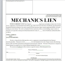 photograph regarding Printable Lien Form known as Mechanics Lien - printable agreement inside document term Pattern