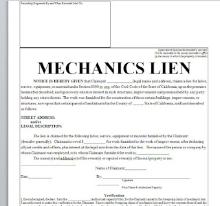 mechanics lien extension  mechanics lien notice  release of mechanics lien  Sample Mechanics Lien Policy and Procedures