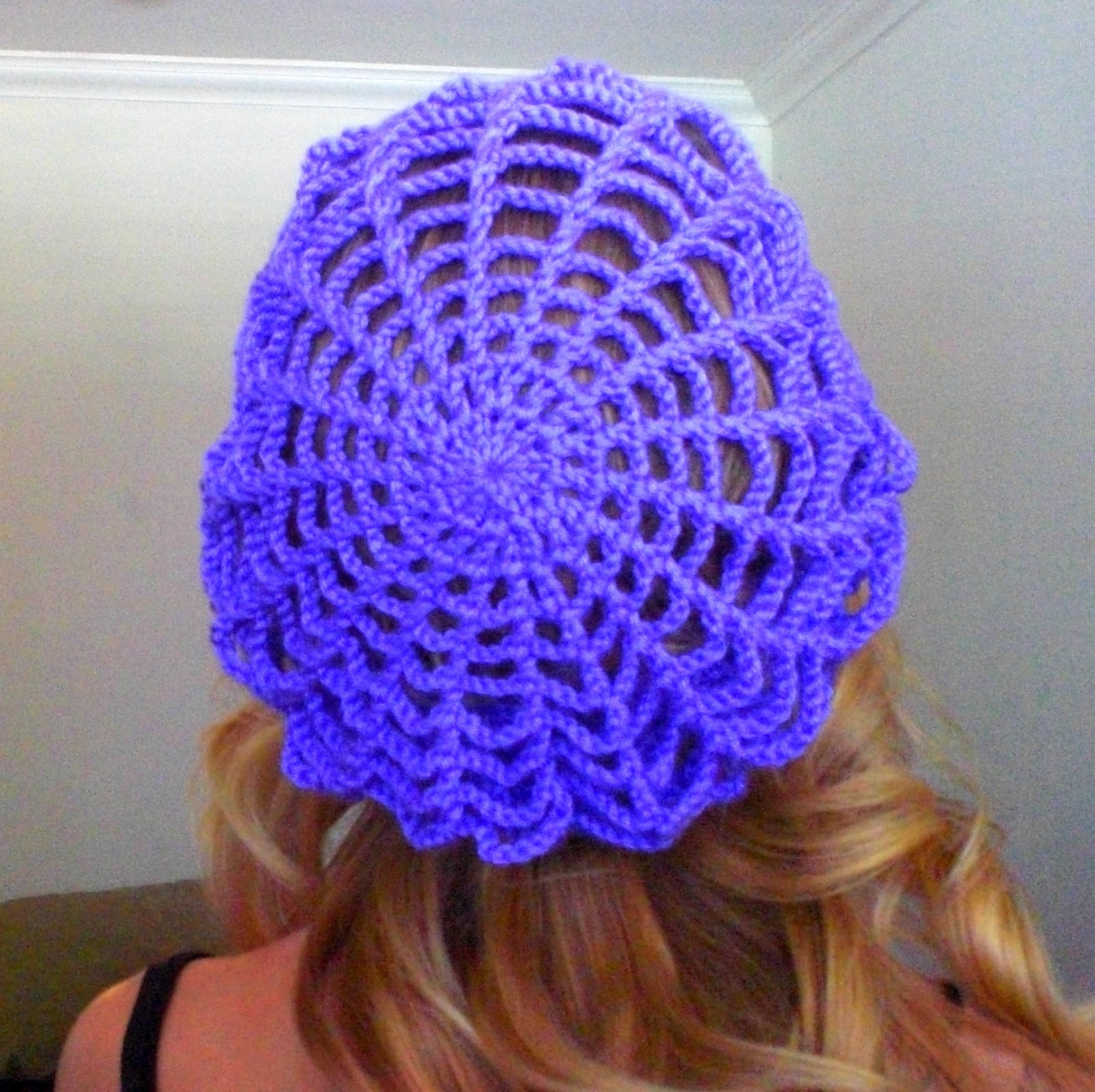 I got to thinking that it would be cool to make a light airy beret with a  web type pattern...and this hat was born! a08832558351