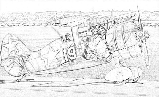 biplanes coloring pages coloring.filminspector.com Polikarpov
