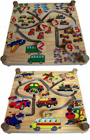 Mainan Edukasi Maze Kendaraan 2 in 1