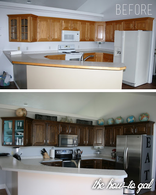 Refinishing Kitchen Cabinets Diy: The How-To Gal: How-To Refinish Kitchen Cabinets