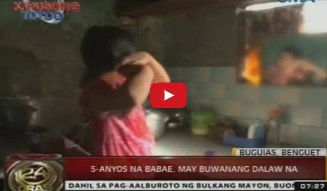 A 5 Year Old Filipino Girl have Her Monthly Menstruation at the Age of 2 found in Benguet