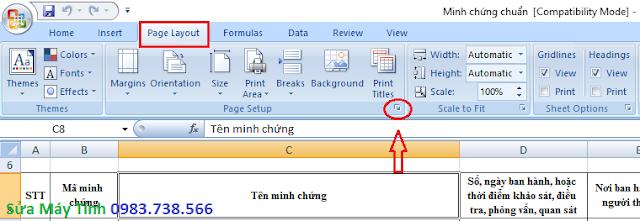 In một dòng cho tất cả các trang trong Excel - H01