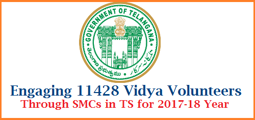School Education – Engaging the services of (11428) Vidya Volunteers through School Management Committees (SMCs) with an Honorarium of Rs.12,000/- (Rupees Twelve Thousand only) per month in the Academic Year, 2017-18 - Permission Accorded – Orders – Issued. engaging-11428-vidya-volunteers-in-telangana-through-smcs