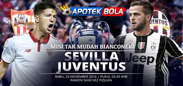 Prediksi Pertandingan Sevilla vs Juventus 23 November 2016