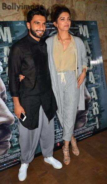 deepika padukone and ranveer singh madaari screening pic