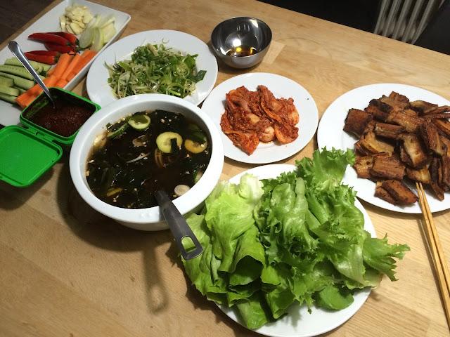 Mit koreanske festmåltid