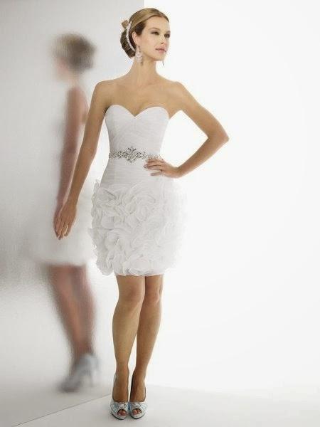 Vestidos de novia civil cortos baratos