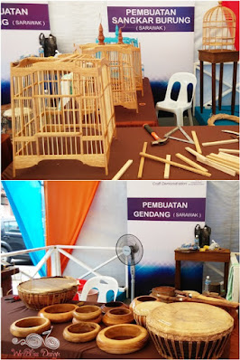 Bird cage and drums at Sarawak Craft Festival 2015