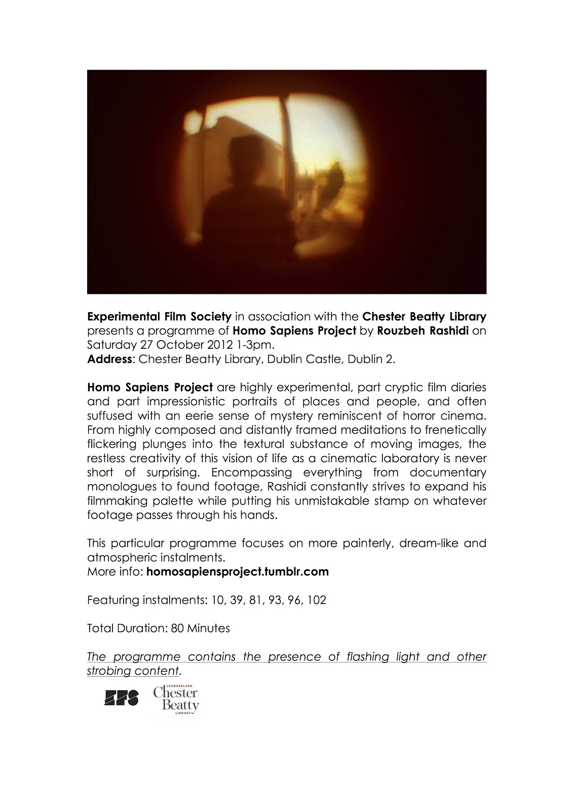 Homo Sapiens Project In Chester Beatty Library Experimental Film