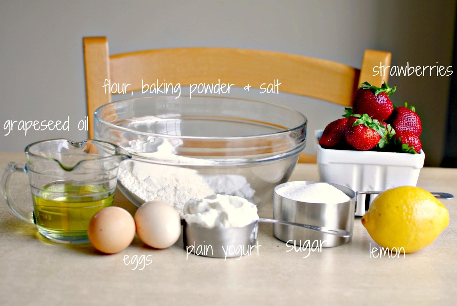 Strawberry Lemon Mini Yogurt Cakes - Simply Scratch
