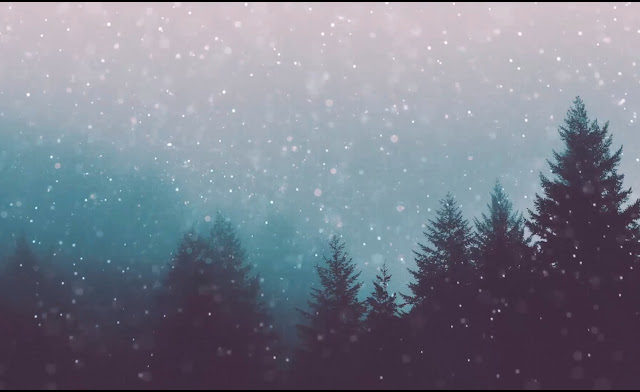 Heavy Snowing Forest Wallpaper Engine