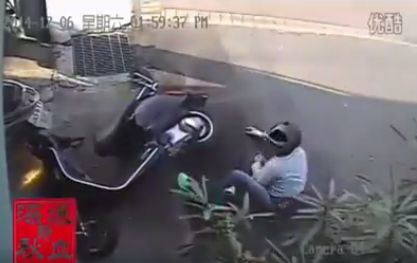 Bangalore traffic police have shared a scary video to create awareness about helmets.   A man skids and falls from his scooter. The rear wheel of a mini temp runs over his head, which is saved by the helmet.