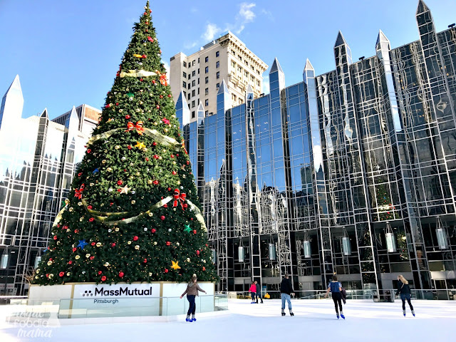 Even if you are not much of an ice skater or have never set foot on the ice before, ice skating at the MassMutual Ice Rink at PPG Plaza should be on your to-do list when visiting Pittsburgh during the holiday season.