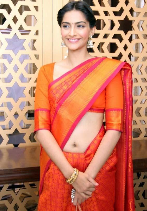 Actress Sonam Kapoor Saree Pics - Indian Actresses -1397