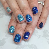 Spring/Summer Special Blue And Sky Nail Art