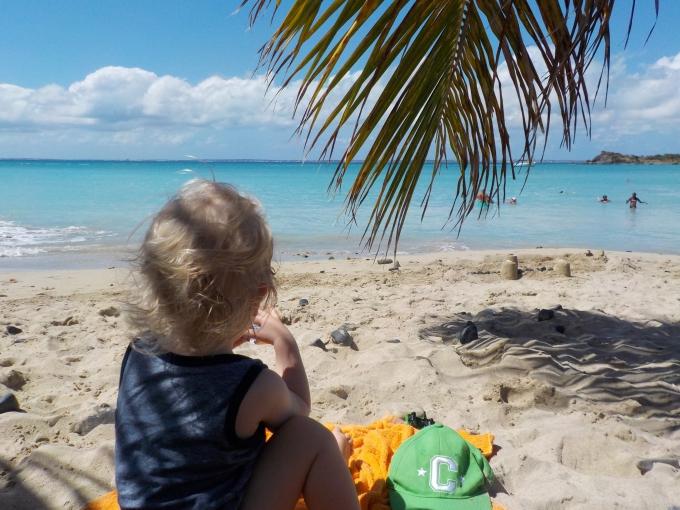 Karibian risteily St Maarten / Sint Martin Friar's Bay / autoilu saaren ympäri lasten kanssa