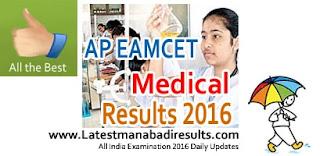 AP Eamcet Medical Results 2016, AP Eamcet 2016 Medical Agriculture Results, AP Eamcet Medical 2016 Results Available