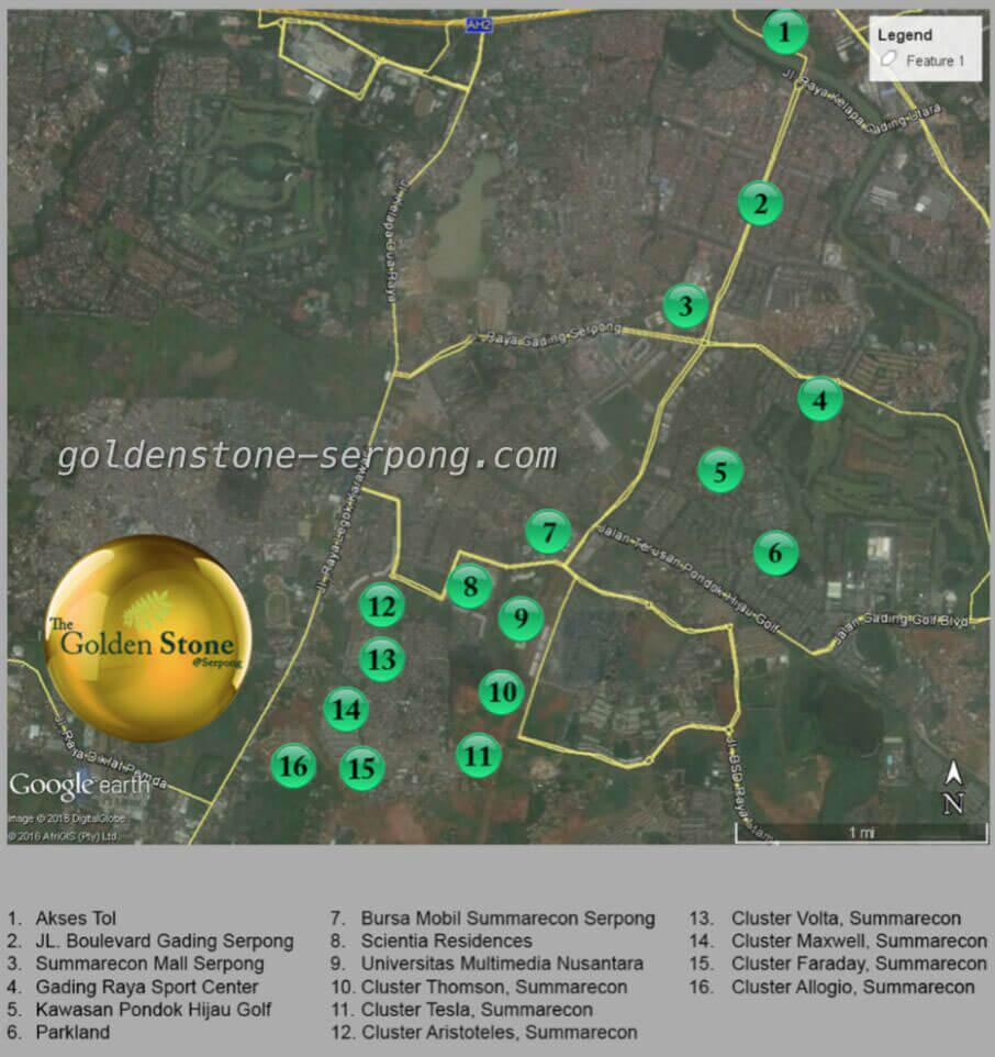 Peta Lokasi Golden Stone Serpong
