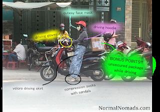 Transportation in Saigon Vietnam: crossing the street, public