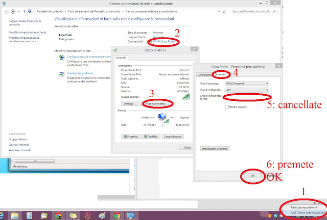 Come rimuovere una Rete WiFi Windows 7 8 8.1