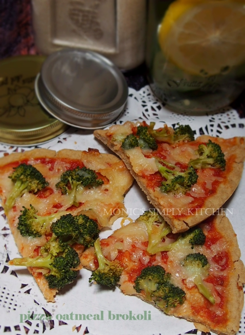 resep pizza oatmeal brokoli