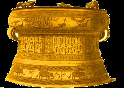 Gambar nekara zaman logam