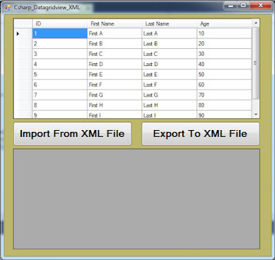 c# import and export to xml file