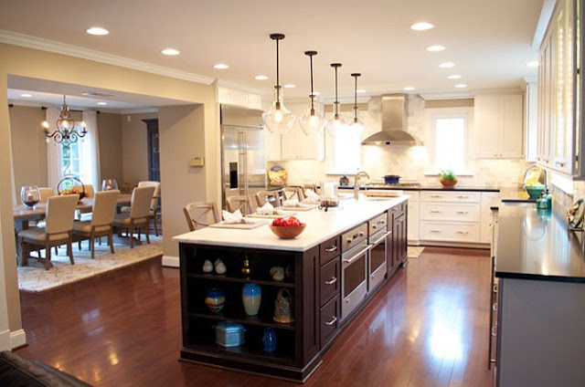 Kitchen and dining room combination makeovers art home for Combined kitchen dining room ideas