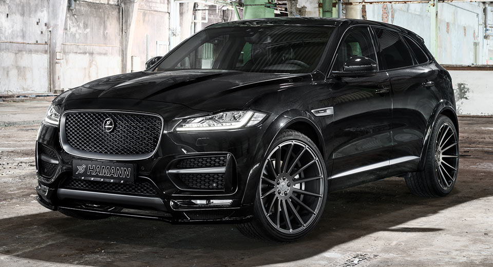 hamann 39 s jaguar f pace distills refined aggression. Black Bedroom Furniture Sets. Home Design Ideas