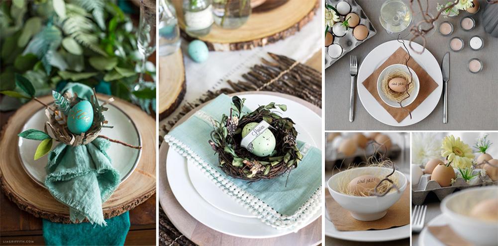 diy nombre de comensales con huevos para decorar platos en pascuas semana santa happy easter