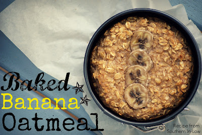 Healthy Baked Banana Oatmeal