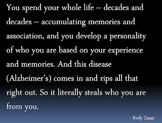 Rudy Tanzi Quote | Alzheimer's Reading Room