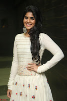 Megha Akash in beautiful White Anarkali Dress at Pre release function of Movie LIE ~ Celebrities Galleries 035.JPG