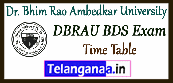DBRAU Dr. Bhim Rao Ambedkar University BDS -1st 2nd 3rd 4th Exam Time Table Admit Card