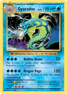 Gyarados Evolutions Pokemon Card
