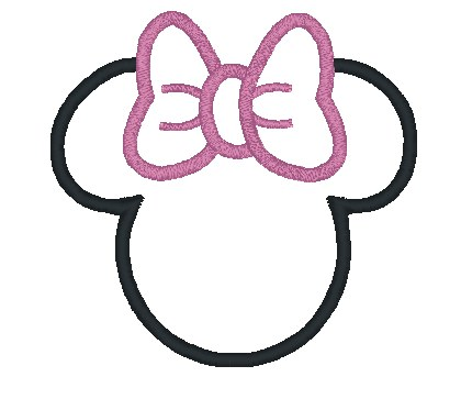 Sissy n bubba boutique characters appliques for Free printable minnie mouse bow template
