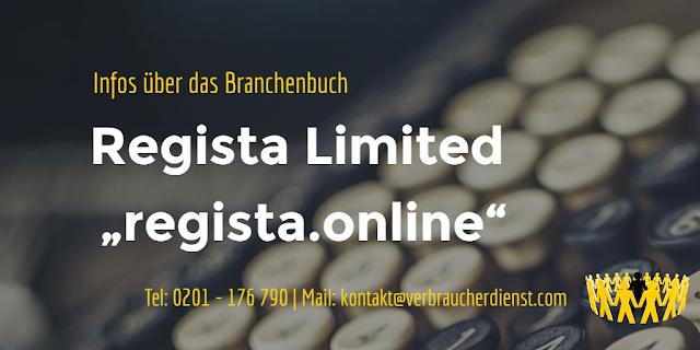 "Titelbild:Regista Limited mit dem Portal ""Regista.online"""